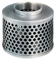 2 1/2 in. Round Hole Zinc Plated Steel Strainer